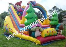 little Red riding hood colorful dry slide/ inflatable santa tree slide