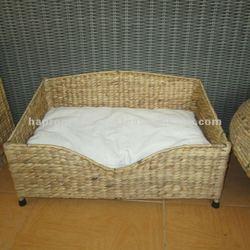 Rectangular Waterhyacinth Pet sleeping Bed