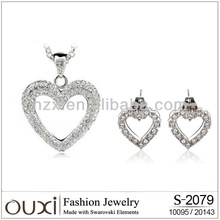 ouxi eternal love jewelry factory direct Made with Austria crystal S-20119