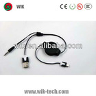 WIK double color retractable usb cable usb to video out cable