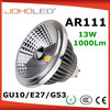 Multi base dimmable CREE Epistar 15W 12W cob led AR111 gu10 g53 e27 spotlight cob AR111 led