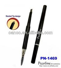 24Hr Retractable Dual Side Slanted Tip Waterproof Eyebrow Pen w/ Brush