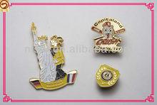 custom high quality enamel gold and ching lapel pins