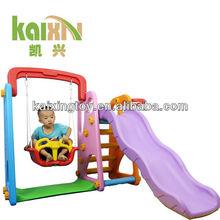 Kindergarten plastic swing and slide children commercial indoor playground equipment