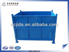 Folding steel cage pallet