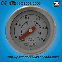 (YTN-40Z) 40mm oil filled water pressure test gauge