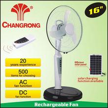 CR-8616R metal plastic stand fan floor fan solar powered battery
