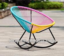 Colorful round rattan egg chair rocking/rattan Acapulco Chair