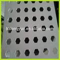 Hot vente décoratif hexagonale métal tôles perforées pour murs