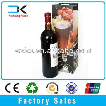Plastic decorative wine printing single make wine bottle bags