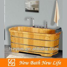 wood massage bathtub