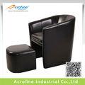couro sala cadeira banheira cadeira com otomano 9604 asf