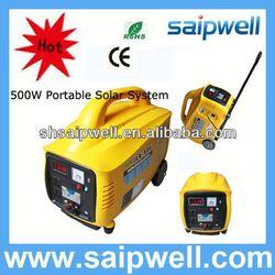 2013 new portable 500w portable solar power systems 500w