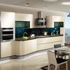 China Guangzhou OPPEIN Smooth Desig Modern Kitchen Cabinets Sale