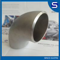 asme b16.9 Stainless Steel 316 seamless 90 degree elbow pipe fitting