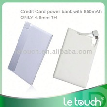Smallest power bank for s4 quick mobile phone charger backup battery