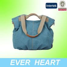2014 xiamen manufacture canvas handbags women sweet handbags ladies
