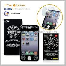 Wholesale anti-bump ultra thin Korean PVC vinyl phone screen sticker skin for Iphone 4 4s waterproof anti-violet