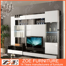 Living room tv wall units design home furniture MO106
