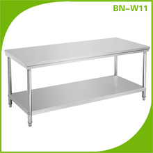 Double Layers Stainless Steel Rectangle Work Table/Kitchen Work Table BN-W11
