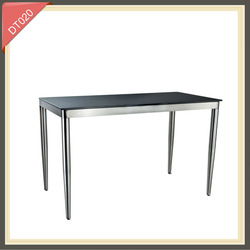 banquet wooden stainless steel dining table DT020