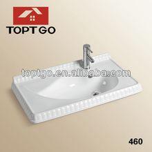 Modern Smooth Surface Leaf Shaped Cabinet Sink480
