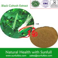 High Quality Black Cohosh Extract/black cohosh p.e