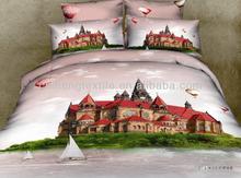 6pcs Paris Castle Duvet Cover Bed sheet & Pillowcases