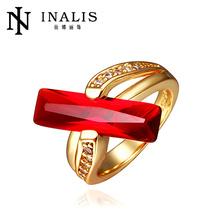 Lekani Wholesale Bar Shape Indian Gold Ruby Rings