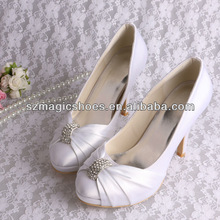(12 Colors) Dyeable White Wedding Shoes for Bride