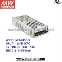 Meanwell 200W switching power supply 3.3V/200w single output constant voltage/3.3v constant voltage