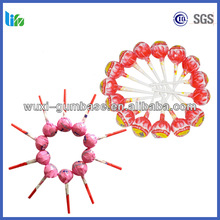 Hot selling fruits flavour sugar round lollipop polish hard mints