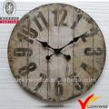 rústico de navidad de la vendimia de moda reloj de la decoración de metal