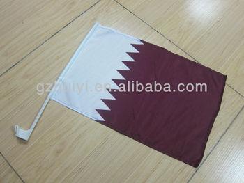 2014 Qatar Car Window National Flags for Used Car