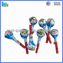 Best selling fruity lollipop bulk popping chocolate pop lollipop form