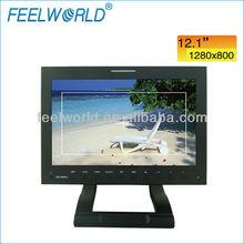 FEELWORLD 12 inch broadcast field lcd flat screen monitor with HD SDI