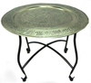 Small Portable Metal Folding Moroccan Table