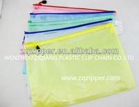 PVC mesh zipper pencil bag
