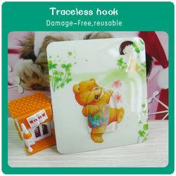 Environmental reuserable traceless washable silicone hook hanger decorative coat hooks