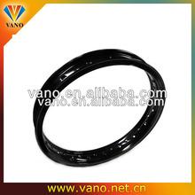 Black color H profile 2.15x18 36 spoke shouldered aluminum motorcycle spoke wheels rims