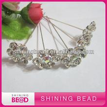 crystal brooch with bouquet picks gem rhinestone in flower central