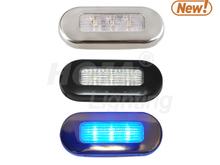 Oblong LED Courtesy Light, 3 inch x1-1/4 inch led light ce