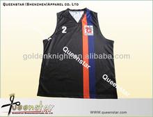 sublimated 100% polyester team basketball uniform/ basketball top