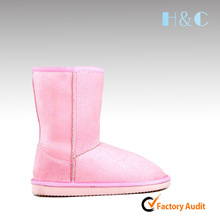 HC-516 Popular plush lining low price warm kids winter snow boots EVA insole & outsole