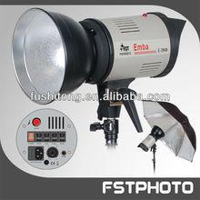Pro photo studio lighting setup by lighting strobe and photographic flash lighting