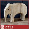 Niño de juguete de madera de madera de los animales de juguete- elefante