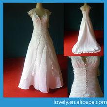 cap sleeve china custom made wedding dress for pregnant women