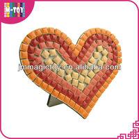 K-PAP 602 heart shape mosaic diy toy, diy anime craft