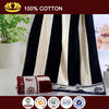 100% cotton high quality color striped velour beach towel