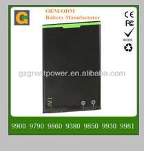 Mobile phone battery for Blackberry JM1 9900 9790 9860 9380 9930